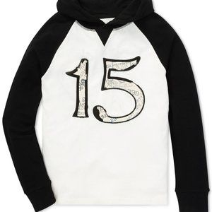 Little Boys Waffle Knit Graphic Cotton Hoodie 2T